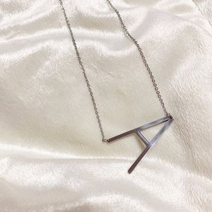 Jewelry - NEW Silver Initial A big letter necklace